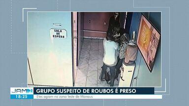 Suspeitos de assaltos a ônibus do transporte coletivo e comércios são presos em Manaus - Segundo delegado, a maior parte dos assaltantes já tinha passagem pela polícia.