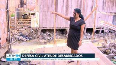 Defesa Civil cadastra desabrigados da cheia em Manaus - Defesa Civil cadastra desabrigados da cheia em Manaus