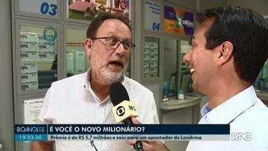 Vencedor da Mega-sena ainda é um mistério em Londrina - Apostador vai receber uma bolada de mais de 5 milhões de reais