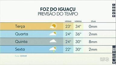 Semana começa com temperaturas acima dos 30 graus na região - Há previsão de chuva a partir de quarta-feira.
