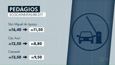 Pedágio vai ficar mais barato em seis praças de pedágio da BR-277 - A medida faz parte do acordo de leniência entre a Ecorodovias e o Ministério Público Federal, na Operação Integração.