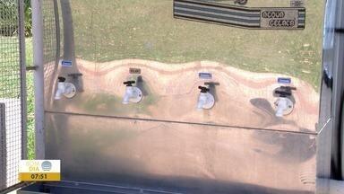Bebedouros no Parque do Povo em Presidente Prudente estão 'diferentes' - Materiais sempre são alvo de vandalismo.
