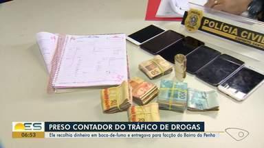 Homem apontado como contador do tráfico de drogas é preso em Vitória - Ele recolhia dinheiro nas bocas de fumo da região.