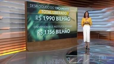 Ministério da Educação detalha destino de quase R$ 2 bilhões desbloqueados do Orçamento - A maior parte, R$ 1,1 bilhão, vai para as universidades e institutos federais.