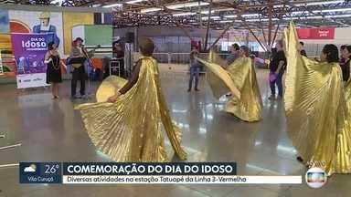 Celebração do dia Internacional do Idoso no metrô - Estação Tatuapé da linha 3-Vermelha recebe diversas atividades até as 15h desta terça-feira