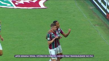 Após semana tensa, vitória em cima do Grêmio traz tranquilidade no Fluminense - Após semana tensa, vitória em cima do Grêmio traz tranquilidade no Fluminense