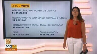 Câmara discute projeto da Lei Orçamentária Anual 2020 em Uberlândia - A arrecadação estimada na cidade para o próximo ano é de R$ 3,316 bilhões. Veja como deve ficar a distribuição desse dinheiro.