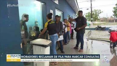Moradores reclamam de fila para marcar consultas em Porto Velho - Iule Vargas foi até o posto Maurício Bustani conferir a situação