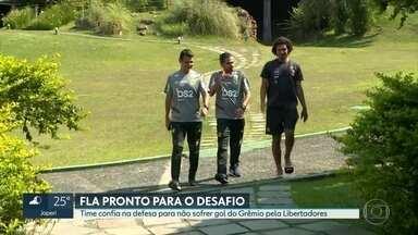 Fla confiante para o primeiro desafio - Time abre semifinal da Libertadores contra o Grêmio em Porto Alegre. Nos últimos 9 jogos defesa sofreu apenas três gols.