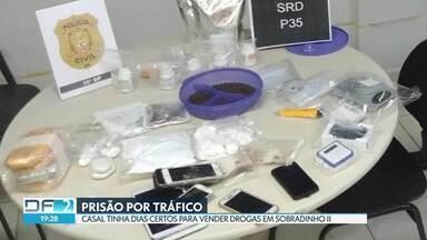 Polícia prende casal suspeito de tráfico de drogas em Sobradinho II - Segundo as investigações, eles tinham dias marcados para vender cocaína na cidade.