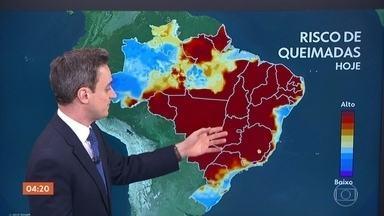 Previsão é de chuva no Tocantins nesta quarta-feira - Veja como fica o tempo em todo o país.