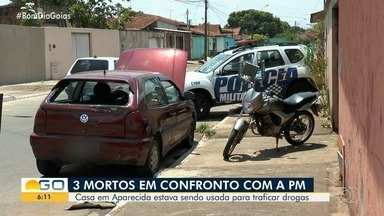Troca de tiros deixa três mortos em Aparecida de Goiâna, diz PM - Segundo os policiais, local funcionava como ponto de tráfico de drogas.