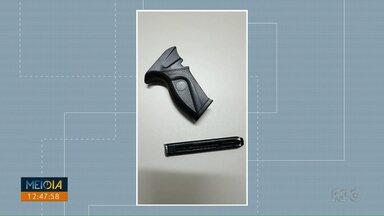 Assaltante quebra arma falsa na cabeça de vítima de assalto em Ibiporã - O homem foi pego, minutos depois, com parte da arma quebrada.