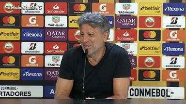 Em último treino do Grêmio antes da semifinal Renato Portaluppi mostra confiança na equipe - Assista ao vídeo.