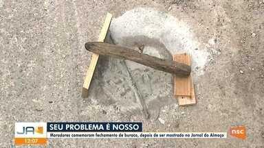 Seu Problema é Nosso: buraco no Guanabara é fechado - Seu Problema é Nosso: buraco no Guanabara é fechado