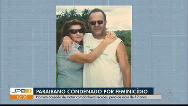 Paraibano é condenado por feminicídio em Brasília - Ele foi condenado há 19 anos de prisão por ter matado a mulher.