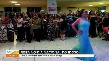 Dia Nacional do Idoso é celebrado com música e dança - Três idosas ganharam dia de beleza antes da festa.