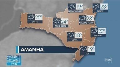 Veja como ficará o tempo em todas as regiões de SC nesta quinta-feira (3) - Veja como ficará o tempo em todas as regiões de SC nesta quinta-feira (3)