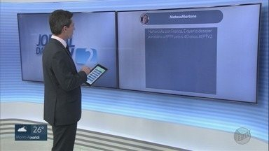 Veja os comentários dos telespectadores no EPTV2 nesta quarta-feira (2) - Você também pode participar com a #EPTV2 pelo Twitter.