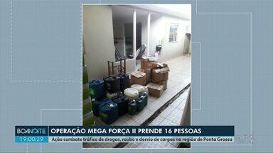 Polícia prende 16 suspeitos por tráfico de drogas no Paraná; dois na região de PG - Mandados de prisão e de busca e apreensão foram cumpridos em quatro cidades paranaenses, inclusive Ponta Grossa e Castro.