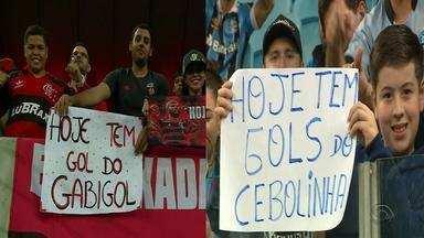 Everton e Gabibol, atacantes da Seleção, se enfrentam pela semifinal da Libertadores - Assista ao vídeo.