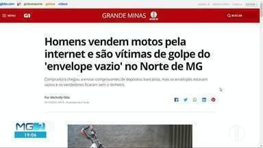 Golpe do 'envelope vazio' é destaque no G1 - Homens venderam motos e não receberam pagamentos