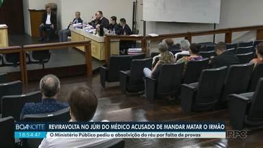 MP pede absolvição de réu - Médico foi à júri popular acusado de mandar matar o irmão, um empresário português