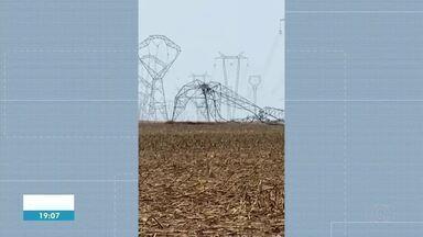 Cidades no sul do estado ficam sem internet após ventania derrubar torres de transmissão - Cidades no sul do estado ficam sem internet após ventania derrubar torres de transmissão