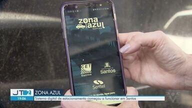 Zona Azul digital entra em vigor em Santos - Bilhete físico de estacionamento regulamentado será substituído gradativamente, sendo aceito até 2 de novembro.