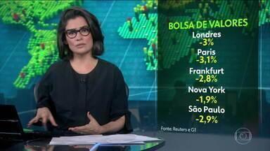 Bolsas caem na Europa, nos Estados Unidos e no Brasil - Piora das principais economias da Europa, impasse na saída do Reino Unido da União Europeia e guerra comercial entre EUA e China foram os motivos mais apontados.