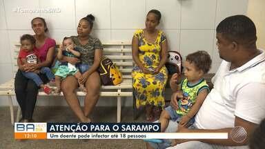 Surto: Santo Amaro da Purificação tem sete casos de sarampo confirmados - Na Bahia, já foram registrados 12 ocorrências da doença.