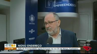 Sala do Empreendedor passa a funcionar em novo endereço em Cachoeiro, ES - Agora funciona na rua 25 de Março.