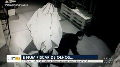 Número de furtos aumenta, em Goiás - Até setembro deste ano, já foram mais de 18 mil casos.