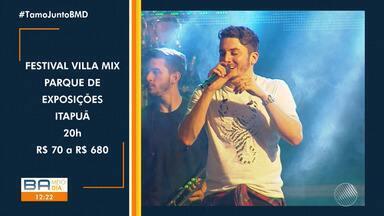 Agenda Cultural: confira as opções de lazer para este fim de semana em Salvador - Entre os destaques tem Villa Mix e show de Humberto Geissenger.