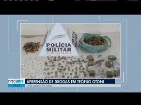 Drogas são apreendidas durante operação da PM em Teófilo Otoni - Um rapaz de 19 anos foi preso.
