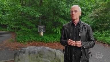 """Floresta em Manhattan foi lar de primeiros nova-iorquinos, da tribo indígena Lenape - Região habitada pelos indígenas fica no extremo norte da ilha. Cidade vem buscando um reencontro com a natureza. Antigo lixão, desativado em 2001, virou ecoparque.Termina em: """"fazer parte desse futuro""""."""