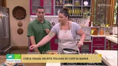 Camila Vitalino prepara Cueca Virada para o café da manhã no 'É de Casa' - Receita italiana vem da família da confeiteira