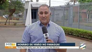 Amanhã começa o horário de verão no Paraguai - Será a primeira vez em muitos anos que Pedro Juan Caballero e Ponta Porã vão ter diferença de uma hora.