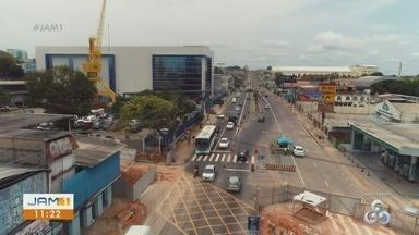 Confira as mudanças no trânsito da avenida Constantino Nery, em Manaus - Trecho entre a Pará e João Valério vai ficar com uma faixa no sentido Centro bairro.
