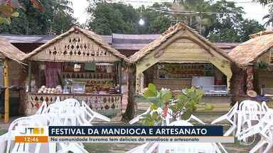 Comunidade Iraruma sedia tradicional festival da mandioca e derivados - Exposição de artesanato também é realizada na comunidade.