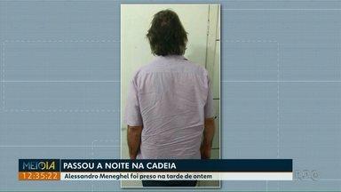 Ruralista Alessandro Meneghel é preso em Cascavel - Ele é acusado da morte de polícia federal.