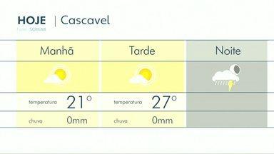 O fim de semana será de tempo instável no Paraná - Há previsão de chuva a qualquer hora do dia entre sábado e domingo.