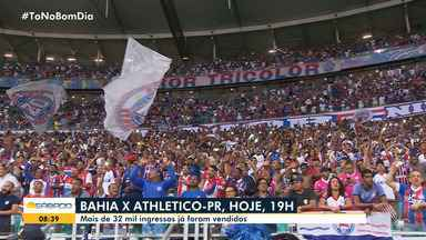 Bahia joga contra o Atlético-PR neste sábado e mais de 32 mil ingressos foram vendidos - A partida está marcada para começar às 19h.