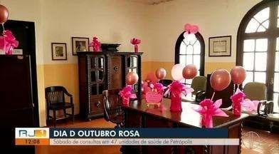 Petrópolis tem mutirão de atendimento a mulher neste sábado (5) - Dia D do Outubro Rosa vai realizar consultas em 47 unidades de saúde.