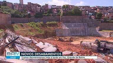 Três casas desabam na tarde no bairro de Fazenda Grande do Retiro - Mais de cinquenta imoveis já foram interditados no local.