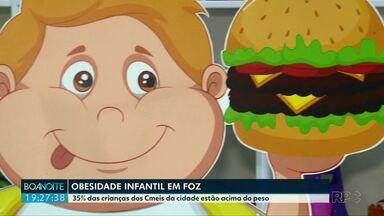 Levantamento aponta que 35% das crianças das creches de Foz do Iguaçu estão acima do peso - Alerta é de um programa que trabalha com alimentação saudável nas escolas.