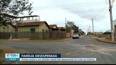 Homem autista e com distúrbio mental está desaparecido há 4 dias em Colatina, ES - Família está desesperada à procura de Cristiano dos Santos.