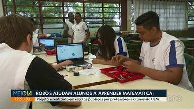 Robôs ajudam alunos a aprender matemática - Projeto é realizado em escolas públicas por professores e alunos da UEM.