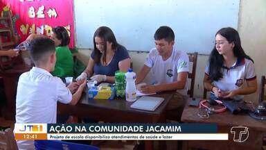 Projeto educa cidadão: moradores do Jacamim são beneficiados com ações de saúde e lazer - Projeto é desenvolvido por alunos e professores da escola Rodrigues dos Santos.