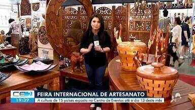 Feira de artesanato é atração no Centro de Eventos do Ceará - Confira mais notícias em g1.globo.com/ce